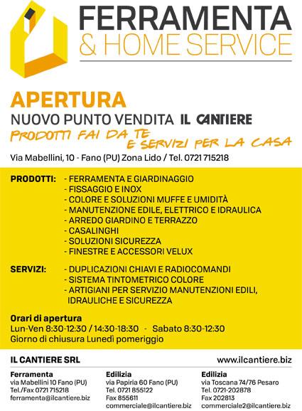 APERTURA NUOVO PUNTO VENDITA: FERRAMENTA Via Mabellini Fano